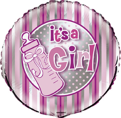 It's a Girl 18 inches Foil Balloon - nyea's Party Store