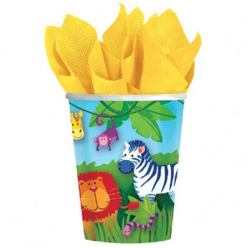 Jungle Animals 9oz Cups - nyea's Party Store