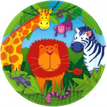 Jungle Animals Dessert Plates - nyea's Party Store