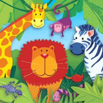 Jungle Animals Lunch Napkins - nyea's Party Store