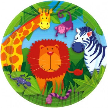Jungle Animals Lunch Plates - nyea's Party Store