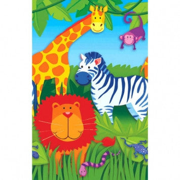 Jungle Animals Paper Tablecover - nyea's Party Store
