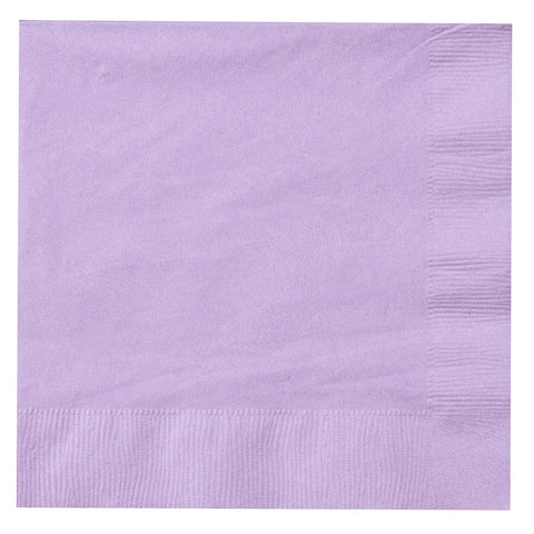 Lavender 9 inches Beverage Napkins - nyea's Party Store