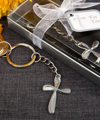 METAL CROSS KEY CHAIN WITH BEADED DESIGN - nyea's Party Store