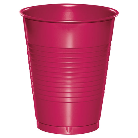 Hot Magenta 16 oz Plastic Cups - nyea's Party Store