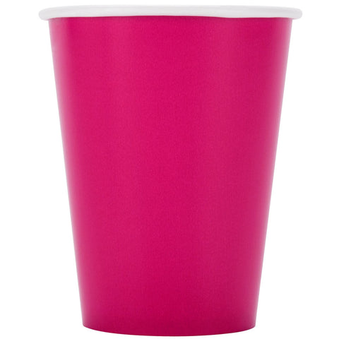 Hot Magenta 9oz Paper Cups - nyea's Party Store
