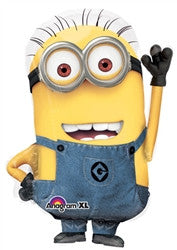 25 inch Packaged Minion Shaped Despicable Me Foil Balloon - Nyea's Party Store