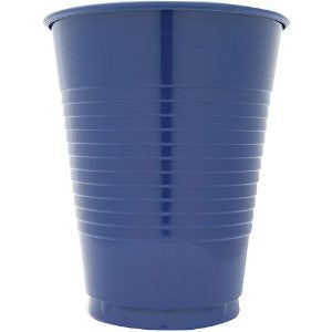 Navy 12 oz Plastic Cups - nyea's Party Store