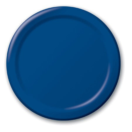 Navy 7 inches Lunch/Dessert Paper Plates - nyea's Party Store