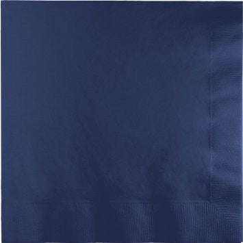 Navy 9 inches Beverage Napkins - nyea's Party Store