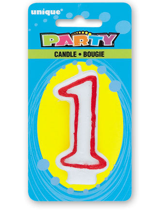 Numeral 1 Deluxe Birthday Candle - nyea's Party Store