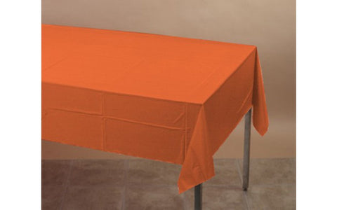 Orange 54 x 108 Plastic Table Cover - nyea's Party Store