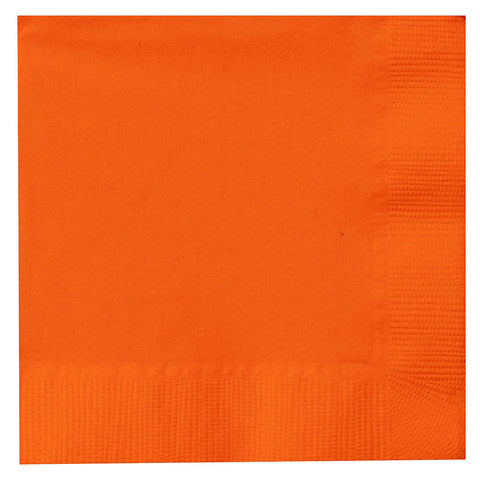 Sun Orange 9 inches Beverage Napkins - nyea's Party Store