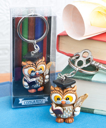 Wise Graduation Owl Key Ring from Fashioncraft - nyea's Party Store