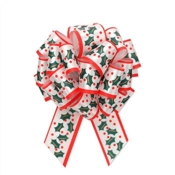 CHRISTMAS HOLLY PERFECT BOWS - nyea's Party Store