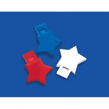 Patriotic Star Whistles - nyea's Party Store
