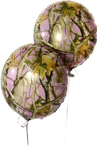 Next Pink Camo Mylar Balloon - nyea's Party Store