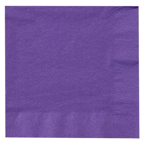 Purple 9 inches Beverage Napkins. - nyea's Party Store