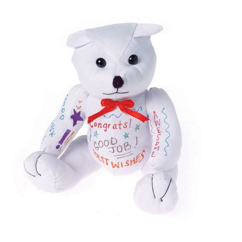 Plush Autograph Teddy Bear - Graduation - nyea's Party Store