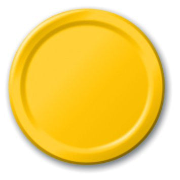 Yellow 9 inches Dinner Paper Plates (Value Pack) - nyea's Party Store