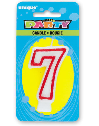 Numeral 7 Deluxe Birthday Candle - nyea's Party Store