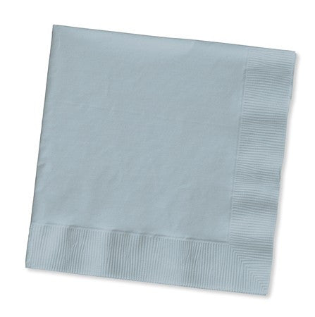Shimmering Silver 2-Ply Lunch Napkins - Solid - nyea's Party Store