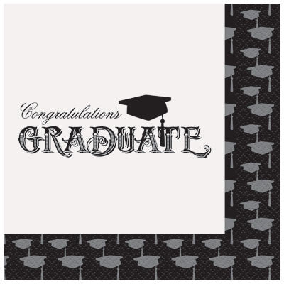Simply Grad Lunch Napkins - nyea's Party Store