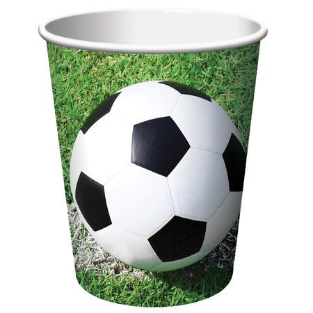 9oz Soccer Paper Cups - nyea's Party Store