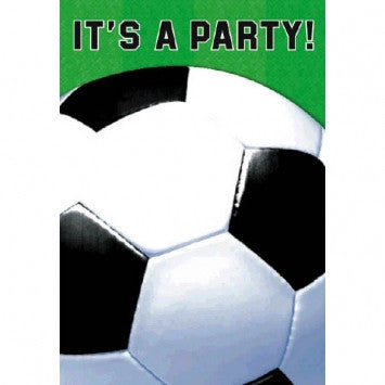 Soccer Fan Folded Invitations - nyea's Party Store