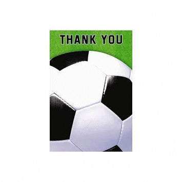 Soccer Fan Thank You Cards - nyea's Party Store