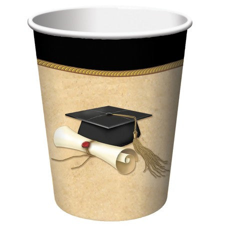 Sophisticate Grad 9 oz. Hot/Cold Cups - nyea's Party Store