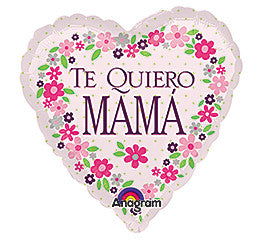"Spanish ""Te Quiero MAMA"" Foil Balloon - nyea's Party Store"