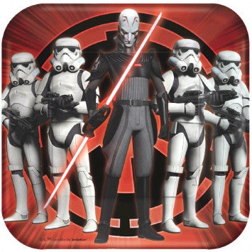 Star Wars Rebels Square Plates - nyea's Party Store