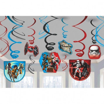 Star Wars Rebels Value Pack Foil Swirl Decorations - nyea's Party Store