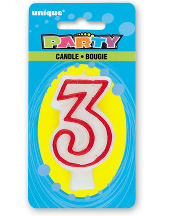 Numeral 3 Deluxe Birthday Candles - nyea's Party Store