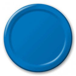 True Blue 7 inches Lunch/Dessert Paper Plates - nyea's Party Store