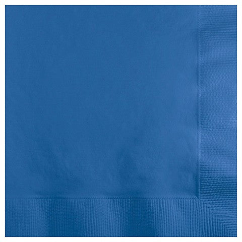 True Blue 9 inches Beverage Napkins - nyea's Party Store
