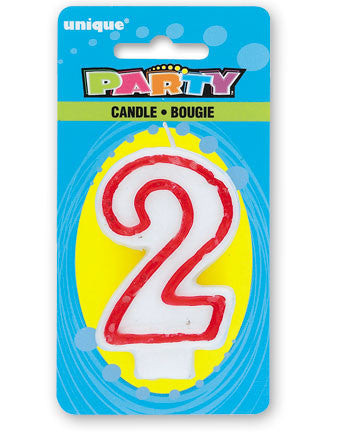 Numeral 2 Deluxe Birthday Candle - nyea's Party Store