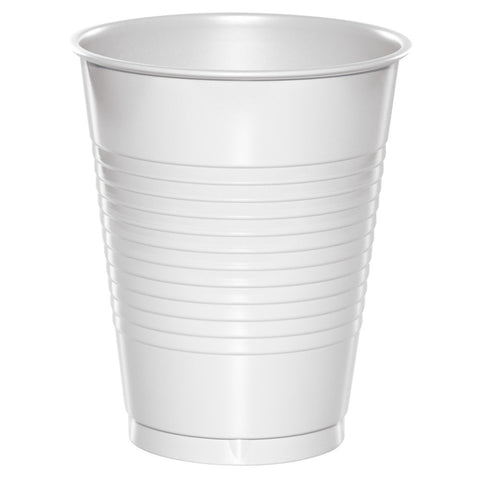 White 16 oz Plastic Cups - nyea's Party Store