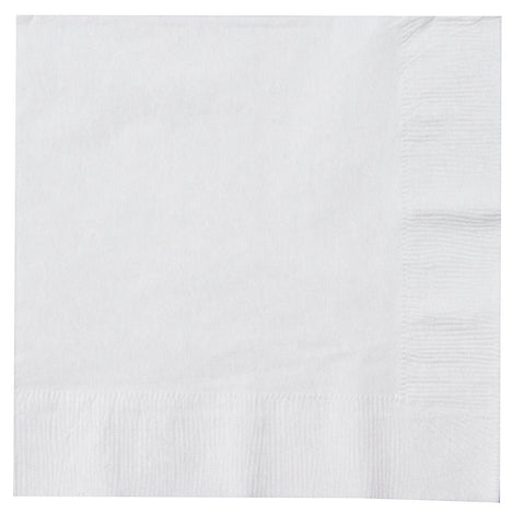 White 12 inches Lunch Napkins - nyea's Party Store