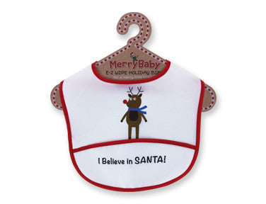 Merry Baby E-Z Wipe Holiday Bibs Christmas - nyea's Party Store    - 3