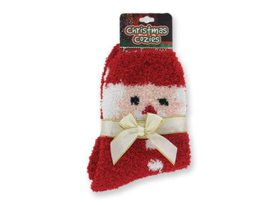 Christmas Cozies Festive Fuzzy Socks - nyea's Party Store    - 1