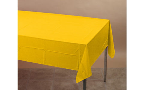 Yellow 54 x 108 Plastic Table Cover - nyea's Party Store
