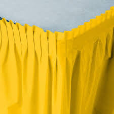 Yellow 14 feet Table Skirt - nyea's Party Store
