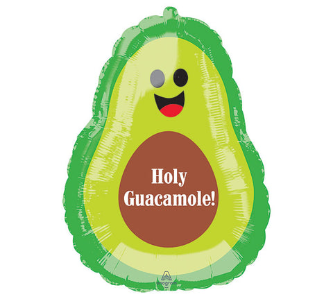 "27"" AVOCADO HOLY GUACAMOLE Foil Balloon"