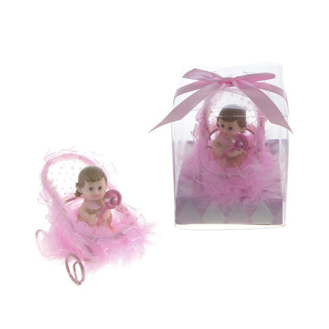 Baby Girl  in Frame Stroller Favors - Pink - nyea's Party Store