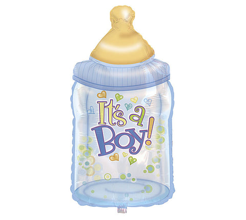 "34"" Blue Bottle Shaped It's A Boy Foil Balloon - Nyea's Party Store"