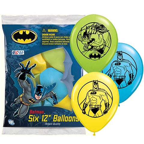 "12"" Asst Batman Latex Balloons"