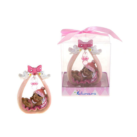 Black Baby Sleeping Under Pacifier Favors - Pink - nyea's Party Store