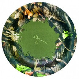 Next Camo Round Plate - nyea's Party Store